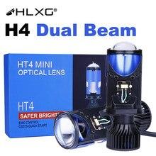 9003 hb2 led h4 kit de conversão lente óptica projetor ht4 mini mais seguro mais brilhante controle emc início rápido nebbia correndo luzes hlxg