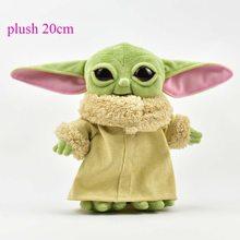 Jouets en Peluche Star Wars pour enfants, 20cm, poupée de dessin animé Yoda, mignon, maître de la sagesse, jouet pour enfants