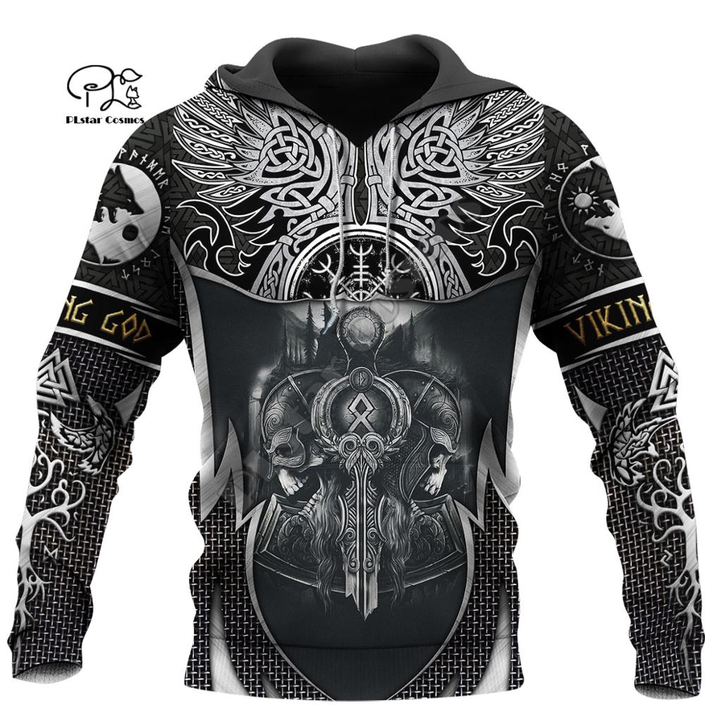 PLstar Cosmos Viking Warrior Tattoo Armor New Fashion Tracksuit Funny 3DPrint Pullover Unisex Zip/Hoodies/Sweatshirts/Jacket S14