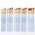 4 шт./компл. рисунок товары для рукоделия акварель Красящие ручки кисти малярные художников нейлоновые волосы деревянной ручкой матовый син...