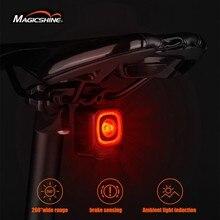 Magicshine bicicleta inteligente luz de detecção freio automático seemee 200 ipx6 à prova dwaterproof água led carregamento luz traseira ciclismo luz traseira acce