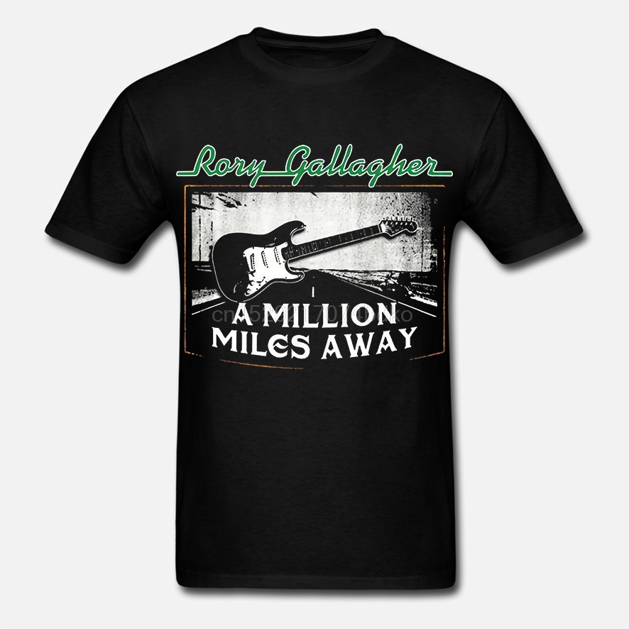 Rory Gallagher T-Shirt Blues Rock Irish A Million Miles Away Song Guitar Road