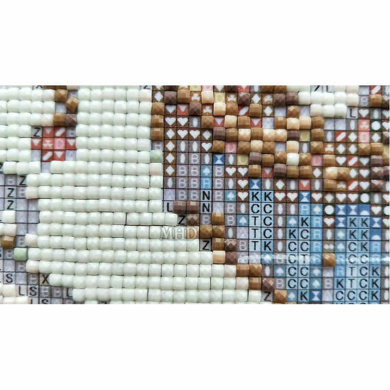 5D DIY יהלומי ציור צלב תפר מראה אישה מלא יהלומי רקמת דפוס כיכר ריינסטון פסיפס תמונות רקמה