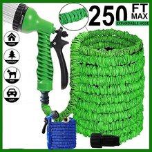 25-200FT Hot rozbudowy magia elastyczny wąż ogrodowy do samochodu rura wąż plastikowe węże zestaw ogrodowy do podlewania z pistoletem natryskowym