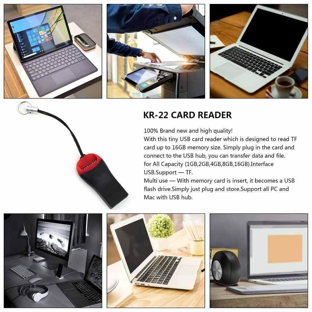 Lectores de tarjetas USB 2,0 Micro SD SDHC tarjeta de memoria flash TF lector Mini adaptador para ordenador portátil lector de tarjetas alta calidad velocidad