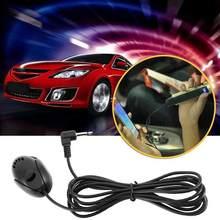 1pc 50 hz-microfone externo profissional do microfone de 20 khz 3.5mm para o jogador de dvd do carro mic gps para a chamada handsfree de bluetooth