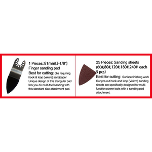 Image 4 - 25 Pcs Multifunctionele Polijsten Driehoekige Schuurmachine Schuren Lakens + Schuren Pad Voor Oscillerende Power Tool Accessoires