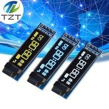 """0,91 дюймов O светодиодный модуль 0,91 """" белый топ с o образным светодиодный 128X32 O светодиодный ЖК дисплей светодиодный Дисплей модуль 0,91"""" IIC общаться 4PIN"""