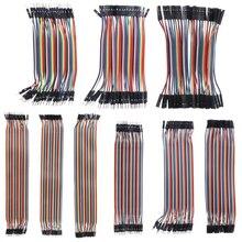 40 шт. кабели M-F/M-M/F-F Перемычка провод для макетной платы красочные GPIO ленты для DIY Kit#1