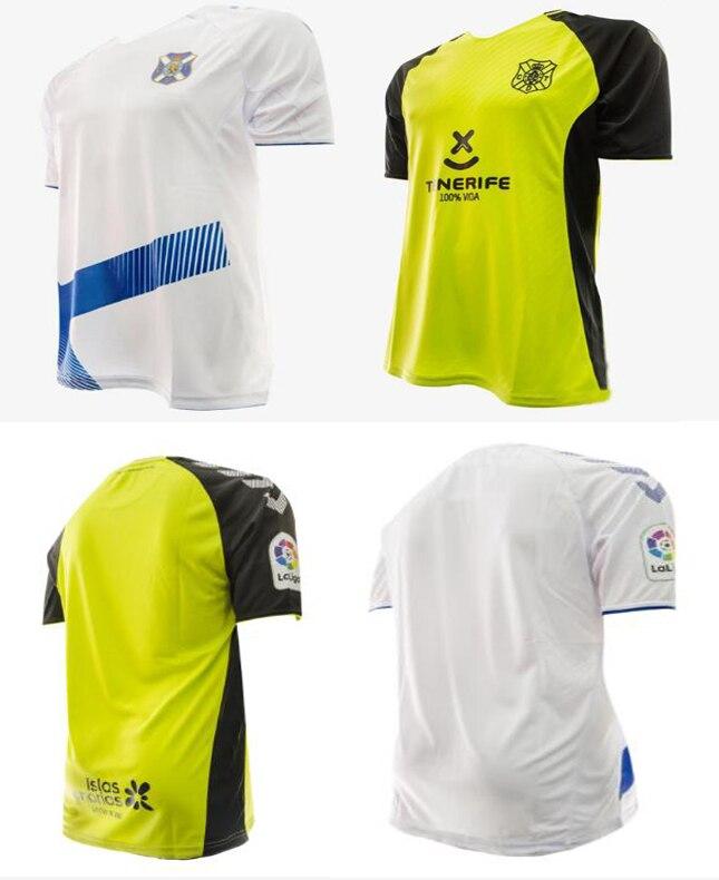 19 20 For Tenerife Camiseta De Futbol Camisa T Shirt Futbol J.NARANJO BERMEJO L.MILLA Camisa Maillot De Foot Running T-shirt