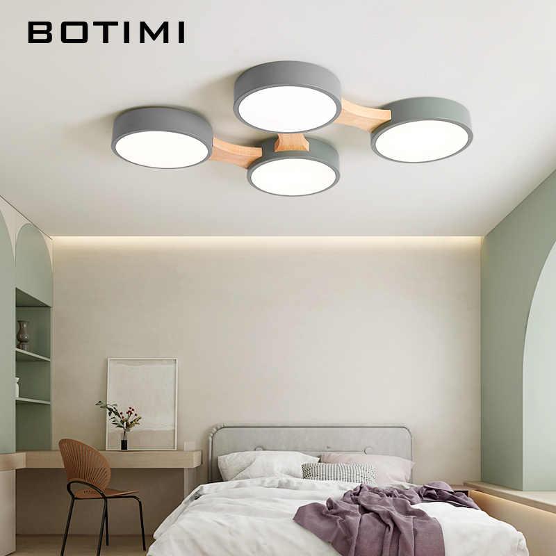 Botimi 220V LED Lampu Langit-langit dengan Logam Bulat Kap Lampu untuk Ruang Tamu Modern Permukaan Langit-langit Yang Dipasang Kayu Kamar Tidur lampu