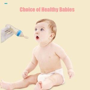 Image 3 - Bebek kaşık şişe besleyici damlalıklı silikon kaşık besleme ilaç çocuklar yürümeye başlayan çatal kaplar çocuk aksesuarları yenidoğan