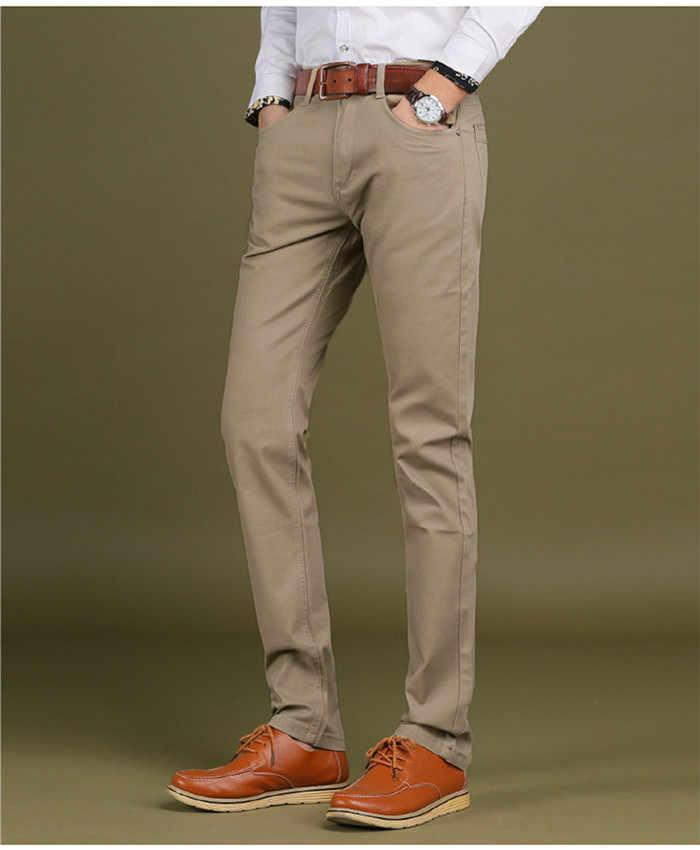 2020 del nuovo Mens Smart Casual Mutanda di Alta Stretch Tessuto Elastico Sottile di Taglio Tasca Dei Pantaloni Distintivo Più Il Formato 44 46 Pantaloni, CY-7104