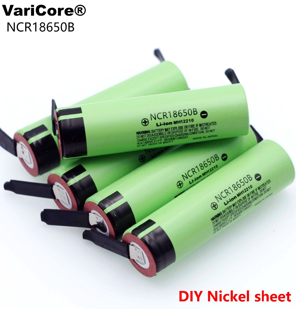 2019 New Original NCR18650B 3.7 V 3400mah 18650 Lithium Rechargeable Battery Welding Nickel Sheet Batteries