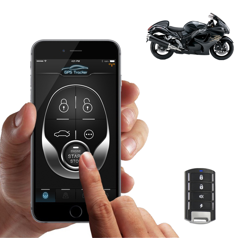 Vehicle Alarm For Motorcycle Gps Tracking 2g Gsm Chip With Remote Engine Start Stop By App And By Remote Sms GPRS App  NTG02M