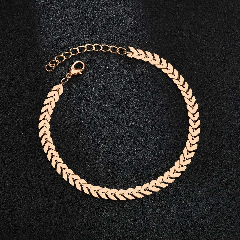 Bohemian art anklets punk metal chain anklets arrow chain anklets summer beach anklets barefoot leg chain jewelry