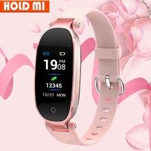 Tela colorida à prova dwaterproof água s3 plus relógio inteligente feminino senhoras monitor de freqüência cardíaca smartwatch relogio inteligente para android ios reloj