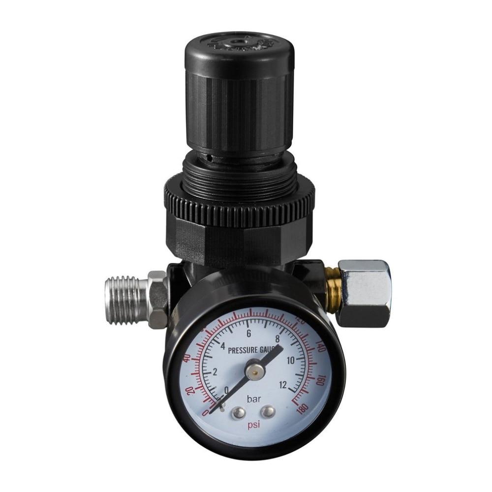Mini 1/4 Thread 180PSI/12Bar Air Pressure Reducing Regulator Air Source Treatment Unit With Pressure Gauge Easy Installation