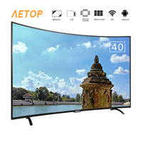 Free shipping matrix tv 40 inch tv smart television led curved screen tv android with wifi