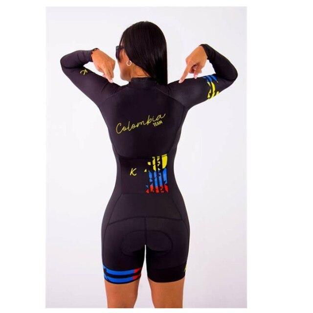 2020 mulheres profissionais triathlon manga longa conjunto skinsuit maillot ropa ciclismo aofly mtb bicicleta roupas macacão fino almofada esponja macaquinho ciclismo feminino manga longa roupas com frete gratis macaca 5