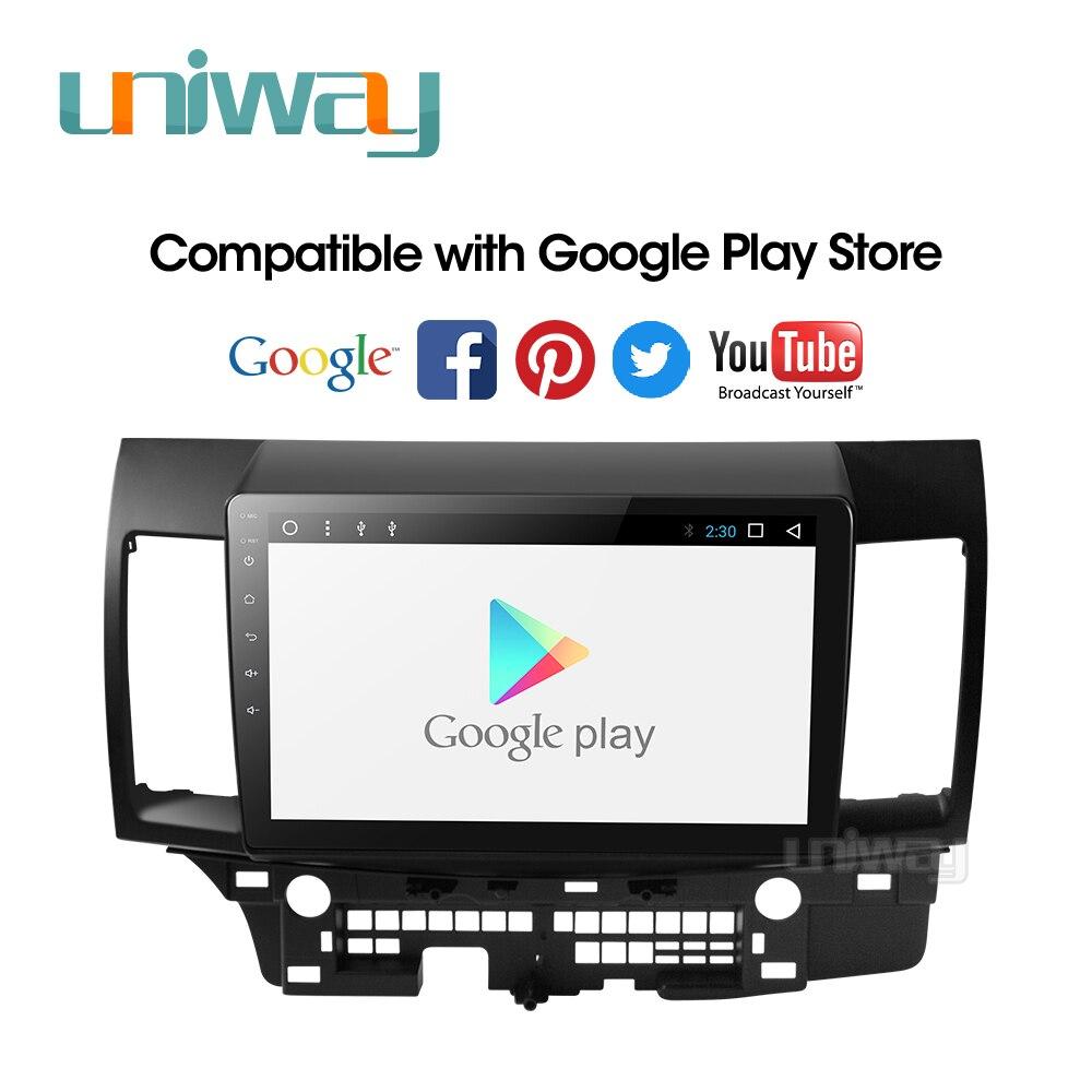 Image 3 - Uniway PX30 DSP YS301 car dvd for Mitsubishi Lancer 10.1 inch 2008 2009 2010 2011 2012 2013 2014 2015 car stereo navigatorCar Multimedia Player   -