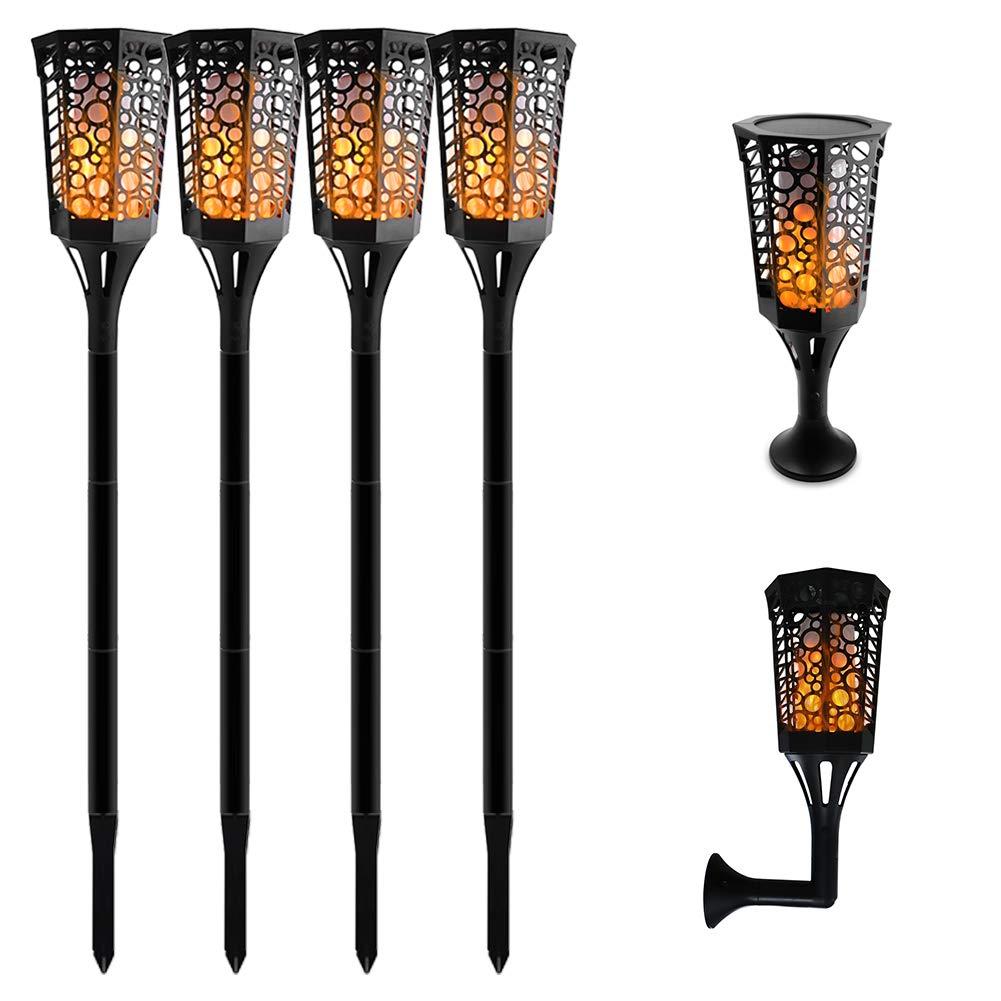 33/51/72LED impermeable llama intermitente linterna Solar lámpara de jardín decoración de paisajes de exterior jardín Luz de césped