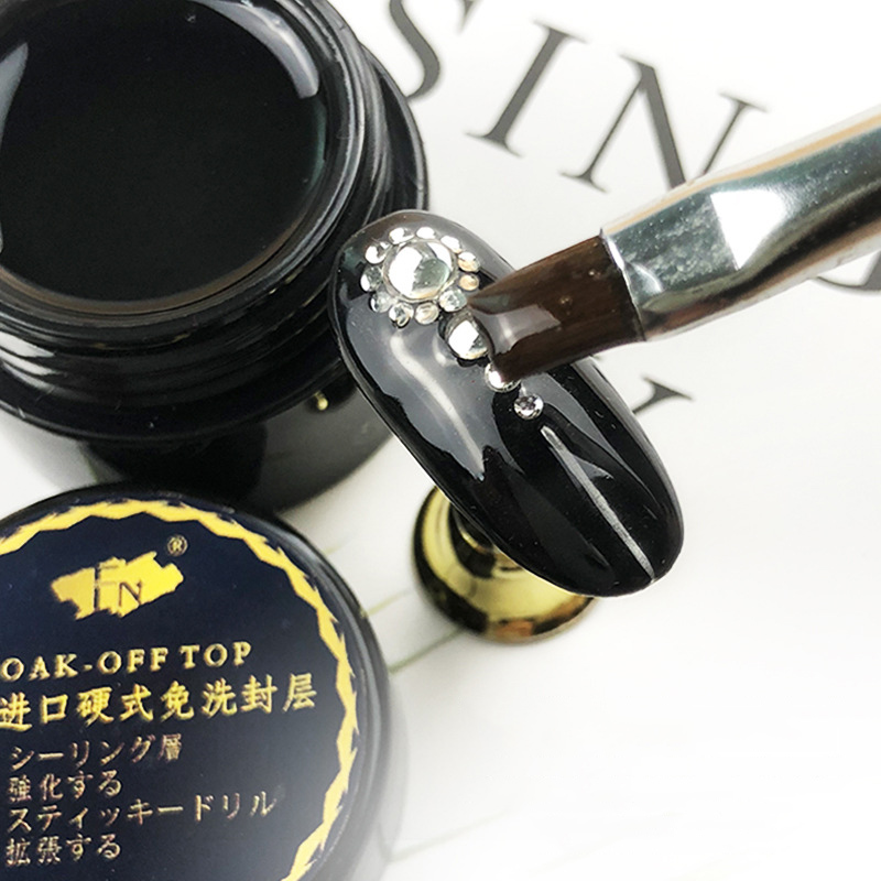 1 Pcs Top Coat UV Gel Nail Art Polish Seal Glaze Fast Dry Soak Off Hard Gel Nail Polish NN