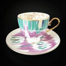 Высоко-Класс костяного фарфора Корона кофейная чашка керамическая Чай блюдце с чашкой с подарочной коробкой животных Tablewar Комплект для свадьбы, так и для праздника