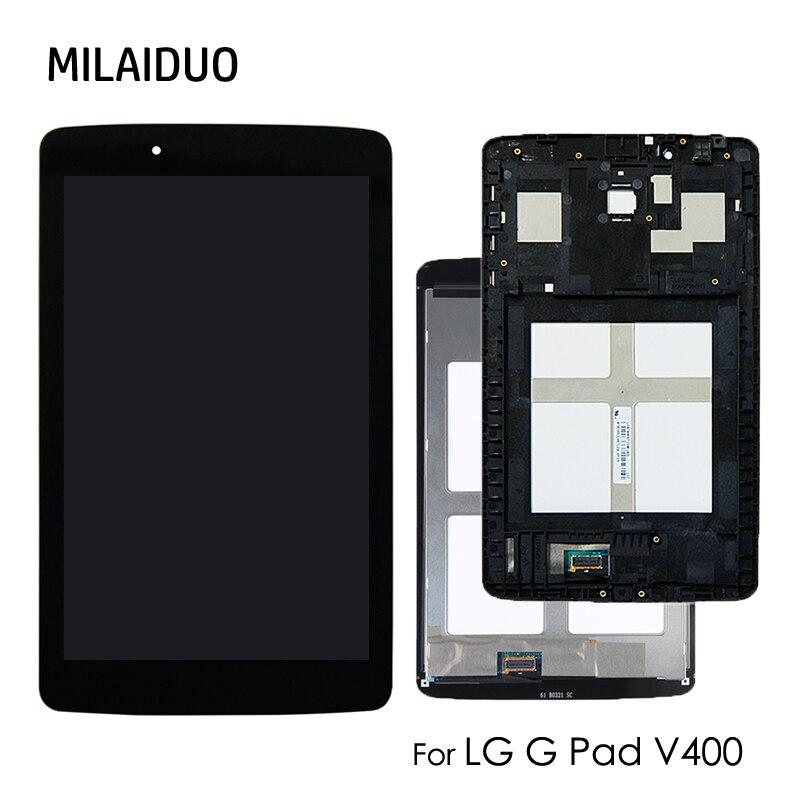 100% testé de haute qualité pour LG G Pad V400 7.0 ''LCD écran tactile numériseur capteur tablette pièces de rechange noir sans cadre
