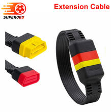Launch OBD Extension Cable for X431 V/V+/PRO/PRO 3/Easydiag 3.0/Mdiag/Golo Main OBD2 Extended Connector 16Pin male to Female(China)