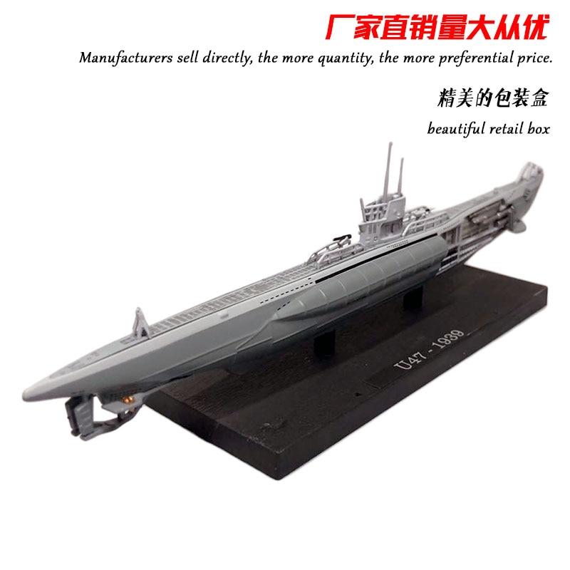 ATLAS 1/350 Scale Military Model Toys World War II German Submarine U-47 Type VIIB U-boat Diecast Metal Warship Model Toy