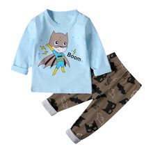 Kids Pajamas Boys Pijama Set Autumn Mermaid Baby Girl Clothes Cotton Haine Copii pyjama kinderen de unicornio Spiderman Batman(China)
