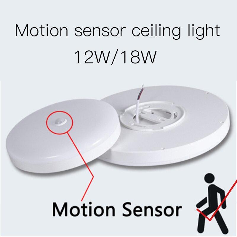 Hf18e6d374ca647efb07760f2f836260dp Surface Mounted LED Ceiling Lamps PIR Motion Sensor Night Lighting 12/18W Modern Ceiling Lights For Entrance Balcony Corridor