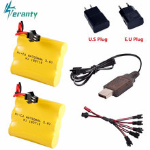 Upgrade 3.6v 700mah NiCD Battery + charger For Rc Toys Cars Tanks Trucks Robot Gun Boat AA Ni-CD 3.6v Rechargeable Battery Pack(China)