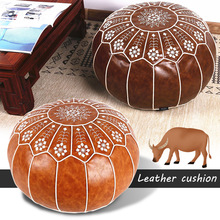 Unstuffed-Cushion Ottoman Footstool Pouf Moroccan Home-Decor Craft Mediterranean-Style