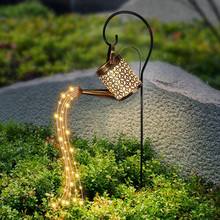 LED Solar Watering Can Lamp Garden Decoration Outdoor Ornaments for Yard Garden Patio Solar Fairy Light String Decorative Lights