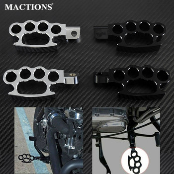 Motorcycle Flying Knuckle Footpegs Footrests Custom Pedal Control Foot Peg For Harley Sportster XL 883 1200 V-Rod Dyna Softail black forward control peg levers linkages for harley sportster xl 883 1200 91 03 motorcycle