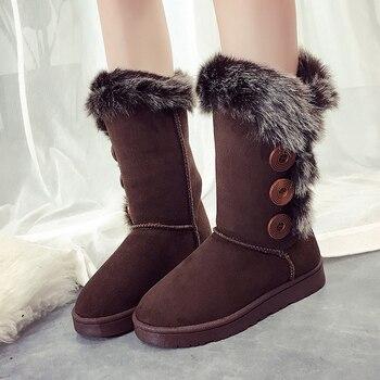Winter Snow Boots Women Boots Ladies Shoes Warm Plush Female Flat Shoes Zapatos De Mujer