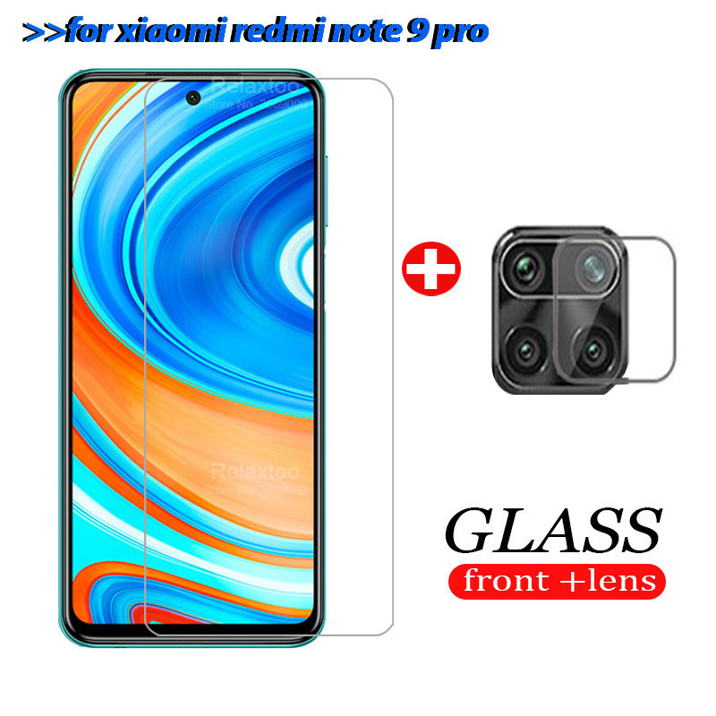 2in1 camera lens protective glass on Redmi Note 9 pro Tempered Glass screen Protector for Xiaomi Redmi Note 9Pro pro 9 pro Glass(China)
