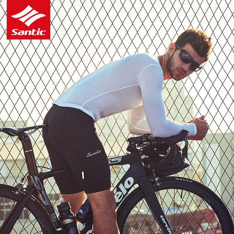 Santic Ademende Mannen Fietsen Ondergoed Qucik Droog Sport Vest Korte/Lange Mouwen Mtb Racefiets Riding T-shirt Base lagen