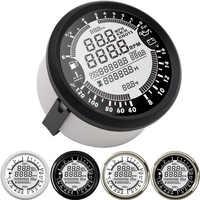 85mm 6 in 1 digital Multifunction gauge Speedometer GPS Tachometer Water Temp Fuel Level Voltmeter Oil Pressure gauge rpm meter