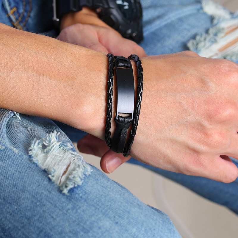 Triple Layers Love Leather Bracelets to Son Or Daughter Bangles & Bracelets