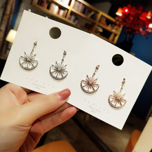 stars moon personality simple fashion earrings  korean boho indian jewelry luxury rhinestone