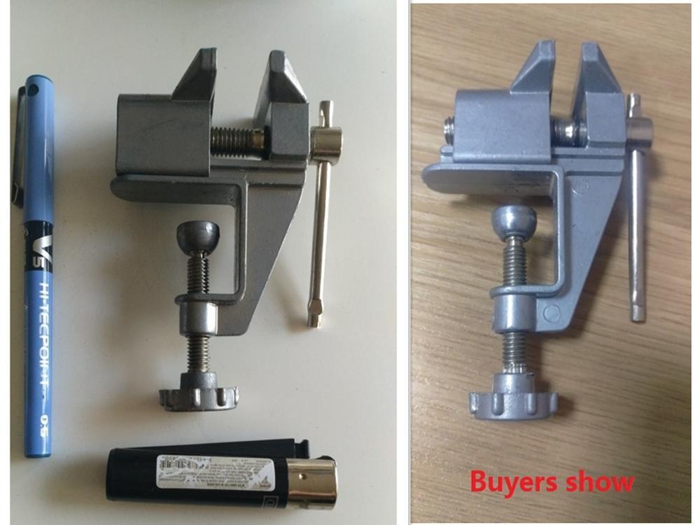 Morsa da banco universale Mini tavolo in lega di alluminio Morsa da - Macchine utensili e accessori - Fotografia 2