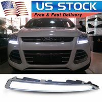 DRL For Ford Kuga Escape 2013 2014 2015 2016 LED Car Daytime Running Light Driving Fog Lamp With Turn Signal