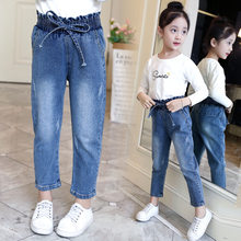 2020 summer kids baby Girls 의류 청바지 부티크 가을 데님 바지 Teenager Long Trousers 4 5 6 7 8 9 10 11 12 years(China)