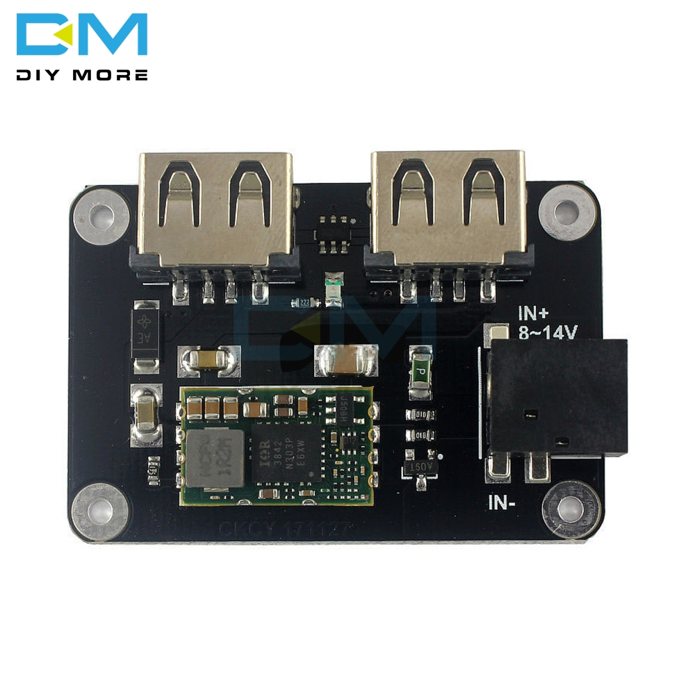 DC 9V12V To 5V 4A Step Down Buck CAR Vehicle Mobile Phone Charger Module 2 Dual Double USB Output Reverse Input Protection Board