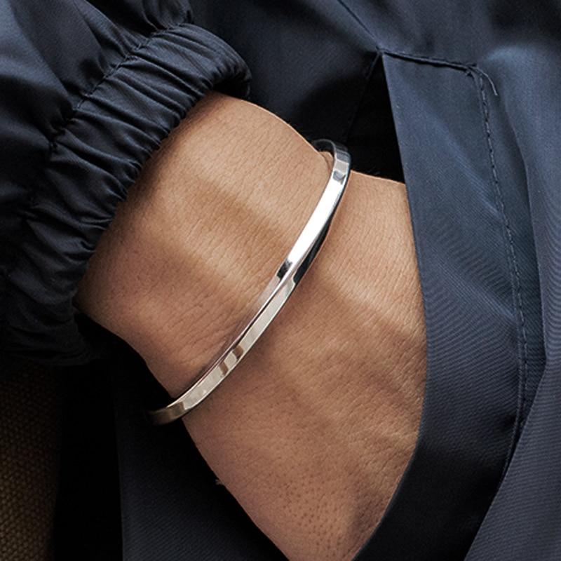 Mcllroy Steel C Shaped Bangle Bracelets Fashion Titanium Steel Cuff Bangle for Women Type C twisted