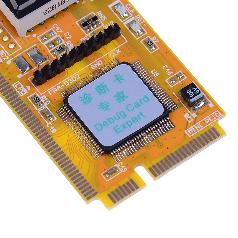 Mini PCI-E LPC PC Analyzer Tester POST Card Test For Notebook Laptop Hexadecimal Character Display 6