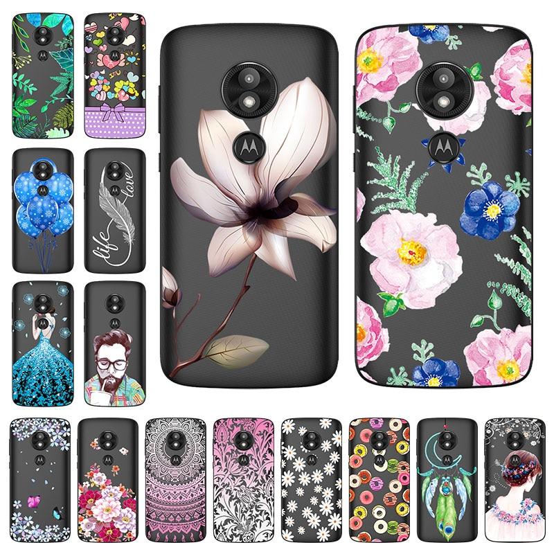 For Motorola Moto e5 plus Case Silicon Painted Transparent Soft TPU Back Cover for Moto e5 play Phone Cases Moto e 5 plus Shell
